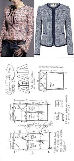 Chaqueta tipo Chanel | DIY - molde, corte e costura - Marlene Mukai
