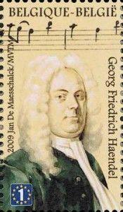 Georg Friedrich Händel auf Briefmarke aus Belgien