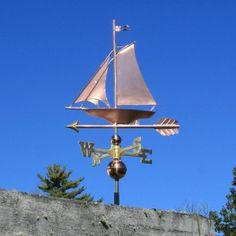 Copper Sailboat Weathervane 220