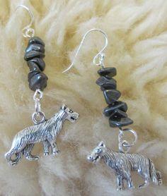 Howling Wolf Earrings $10