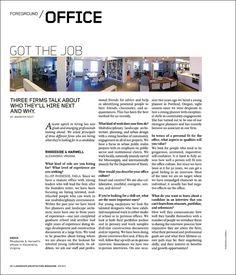 GOT THE JOB | Landscape Architecture Magazine
