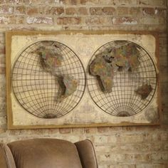 Globe Wall Décor from Seventh Avenue ® | D2705419