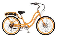 7f9d0673279 Pedego Comfort Cruiser Step Thru Orange with White Wall Tires America s  most beloved electric bike - with new improvements that make it even more  lovable.