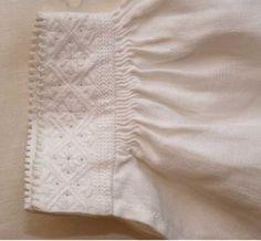 Fana bunad blouse cuff Folk Costume, Costumes, Ethnic, Dolls, Patterns, Blouse, Hardanger, Needlepoint, Chemises