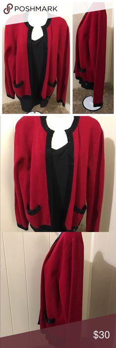 Liz Claiborne Large wool cardigan like new Liz Claiborne Sweaters