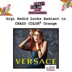 Hair Color Cream, Hair Colour, Gigi Hadid Looks, Semi Permanent Hair Color, Crazy Colour, Hair Colorist, Looking Stunning, Orange Color, Supermodels