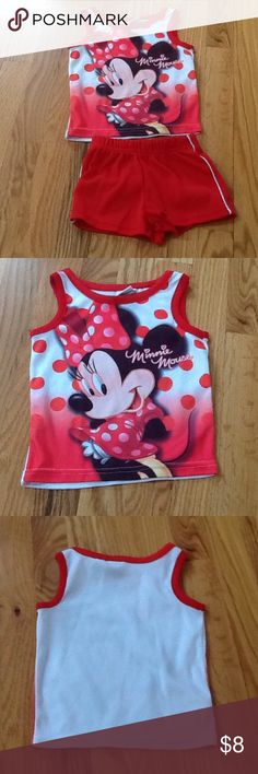 Disney Minnie Mouse Short Set Disney Minnie Mouse Short Set. Top is 18 months and shorts are 12 months Disney Bottoms Shorts