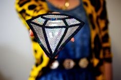 Custom Silver Holographic Diamond Sequin Patch by KingSophiesWorld, £69.99