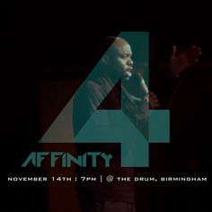 James Richards at Affinity 2 ...Who will be at Affinity 4? Find out Nov 14th @the_Drum ! #Affinity4 #GL360