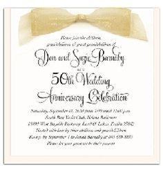 50th wedding anniversary invitations simple - Google Search