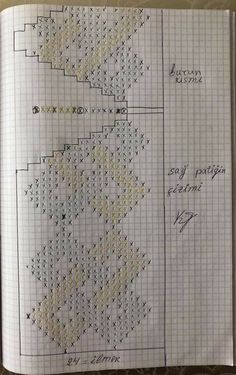 Graph Crochet, Tunisian Crochet Stitches, Peacock Crochet, Knitted Slippers, Loom Beading, Cross Stitch, Bullet Journal, Beads, Sewing