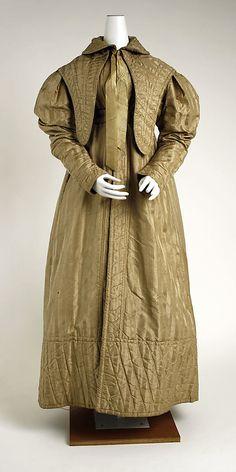 Pelisse: ca. 1830, British, silk.