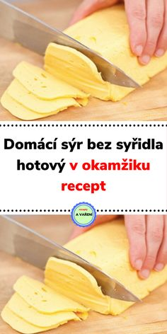 Domácí sýr bez syřidla hotový v okamžiku recept No Salt Recipes, Raw Food Recipes, Cooking Recipes, Homemade Cheese, Healthy Life, Good Food, Food And Drink, Appetizers, Low Carb