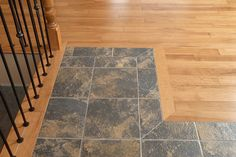 A nice transition from tile to wood.