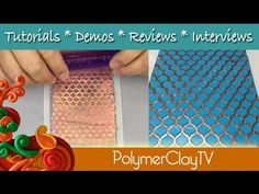 NEW Recessed Stencil and Polymer Clay Technique UPDATED VERSION - YouTube