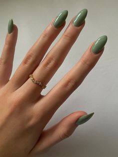 Almond Acrylic Nails, Best Acrylic Nails, Almond Nails, Acrylic Nails Green, Green Nail, Nagellack Design, Nagellack Trends, Acylic Nails, Funky Nails