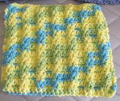 Ladder Stitch Crocheted Dishcloth free pattern on ravelry.com