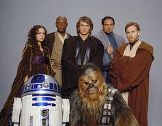 Ewan McGregor and Hayden Christensen in Star Wars: Episode III - Revenge of the Sith (2005)