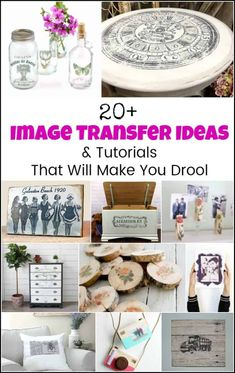 So many image transfer ideas. From how to transfer images to wood, photo transfer to canvas tutorials, image transfers to fabric and photo transfer to glass Transfer Photo To Glass, Canvas Photo Transfer, Transfer Images To Wood, Foto Transfer, Transfer Paper, Transfer Printing, Crafts For Teens To Make, Crafts To Sell, Easy Crafts
