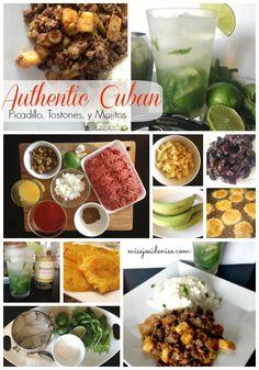 Authentic cuban food, cuban recipe, picadillo, mojito, moscato, plantains