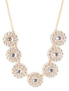 Crystal Pinwheel Strand Necklace   BaubleBar