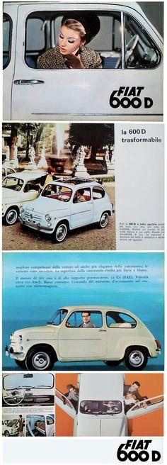 Fiat 600  depliant  anni 60' Fiat 600, Italy Spain, Cars, Movies, Poster, Autos, Films, Car, Cinema