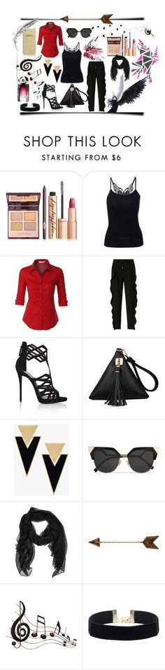 """""""Cool"""" by beyhandilekersoz ❤ liked on Polyvore featuring LE3NO, Sonia by Sonia Rykiel, Giuseppe Zanotti, Yves Saint Laurent, Fendi, Benzara and Kate Spade"""