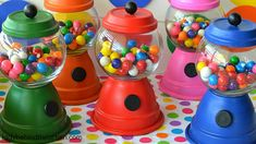 DIY Gumball Machine Party Favors - Lady Behind The Curtain