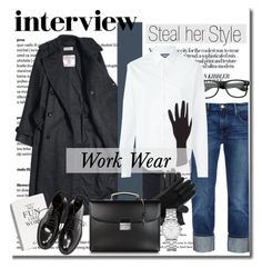 """""""Work Wear"""" by stylemeup-649 ❤ liked on Polyvore featuring Frame Denim, Jacquemus, Ted Baker, Yves Saint Laurent, Pineider and Marc by Marc Jacobs"""