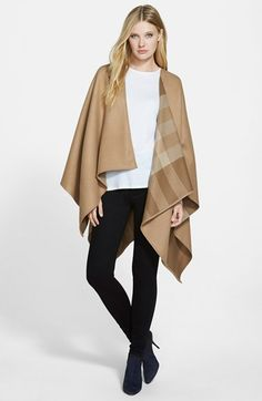Burberry Reversible Merino Wool Ruana available at #Nordstrom