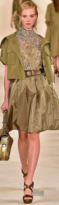 The safari chic style by American designer RALPH LAUREN, Spring 2015.