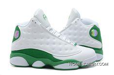 0755daabd12363 Air Jorda13 Ray Allen PE White Green Discount