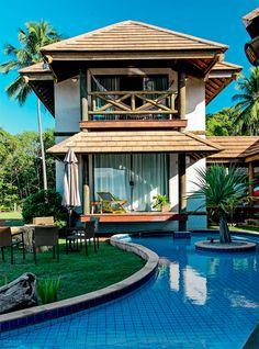 Uma casa de praia com design de ponta e arte popular - Casa. Adicionado por ConceptCasa.com.br