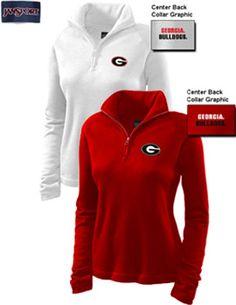Product: University of Georgia Bulldogs Women's 1/4 Zip Pullover