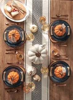 Bramley Dinnerware with Pumpkin Soup Bowls
