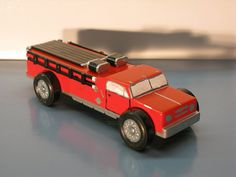 Pinewood Derby car made to look like a fire truck