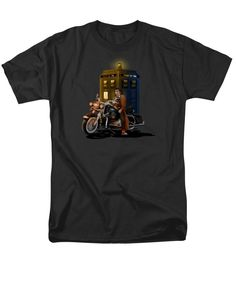 time traveller with big motorcycle Man T-Shirt Available for @pointsalestore #tshirt #tee #clothing #tardis #doctor #thedoctor #doctor #who #nerd #geek #funny #cool #tardis #nerdy #geeky #cover #timevortex #timelord #badwolf #nerds #fandom #backtothefuture #ninthdoctor #tenthdoctor #eleventhdoctor #drwho #timetravel #british #angel #gallifrey #gallifrean #bluebox #dalek #mattsmith #davidtennant #dontblink #blink #police #publiccallbox #steampunk #galaxy #nebula #space #whovians #vangogh…