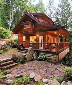 #boathouses Small Log Cabin, Log Cabin Kits, Tiny Cabins, Tiny House Cabin, Log Cabin Homes, Cabins And Cottages, Cottage Homes, Log Cabins, Small Log Homes