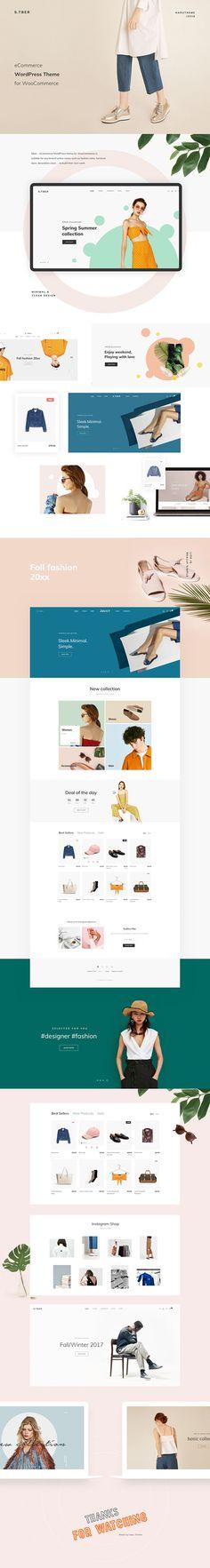 Stber - eCommerce WordPress theme on Behance