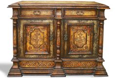HAND PAINTED DISTRESSED BUFFET MOROCCO, KOENIG COLLECTION