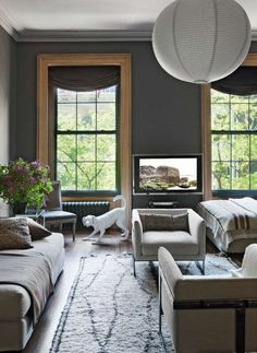 Lovely shade of grey. What Makes It Work: A Seriously Stylish Studio Apartment — Tom Delavan