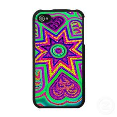 MINT HEART & STARS iPHONE 4 CASE, by The Flying Pig Gallery on Zazzle -   Bright colored hearts and stars make this pretty phone case a real standout in any crowd. Available for both iPhone 3 and iPhone 4s.