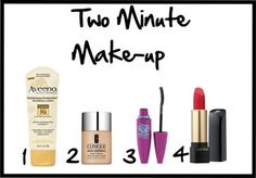 My make up routine for those roll outta bed days