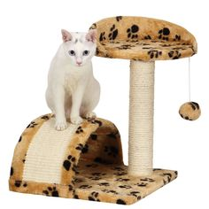 Ollieroo Small Cat Tree Sisal Scratching Post Furniture Playhouse Pet Bed Kitten Toy Cat Tower Condo for Kittens ** You can find more details by visiting the image link.