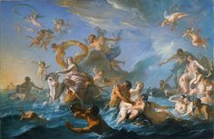 Noël-Nicolas Coypel: Enlèvement d'Europe / The Abduction of Europe (1727, Oil on canvas)