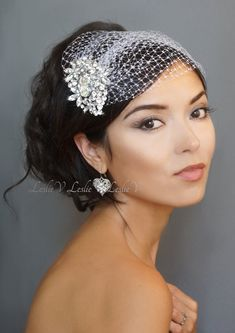 How to wear birdcage veil BANDEAU STYLE