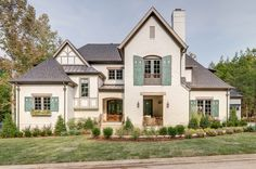 painted brick home | Exterior painted brick | House Exteriors