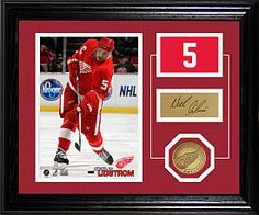 Nick Lidstrom Framed Photomint! Remember his legendary career!  4 Stanley Cup, 7 Norris Trophies, 1 Conn Smythe Trophy and a Gold Medal in '96!