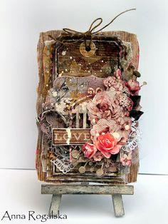 "CARD - Scraps Of Elegance January kit ""Renea's Charm"" #Fabscrabs #Kaisercraft"