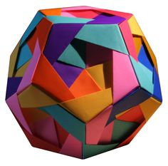 modular origami . ball . colourful . fun. whimsical. layered . paper sculptures